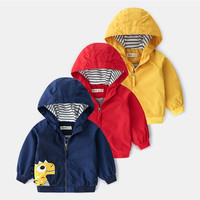 Baby Clothes Cartoon Pattern Girls Boys Jackets Coats Toddler Kids Jacket Outwear Hooded Windproof Children Clothes 2019 New