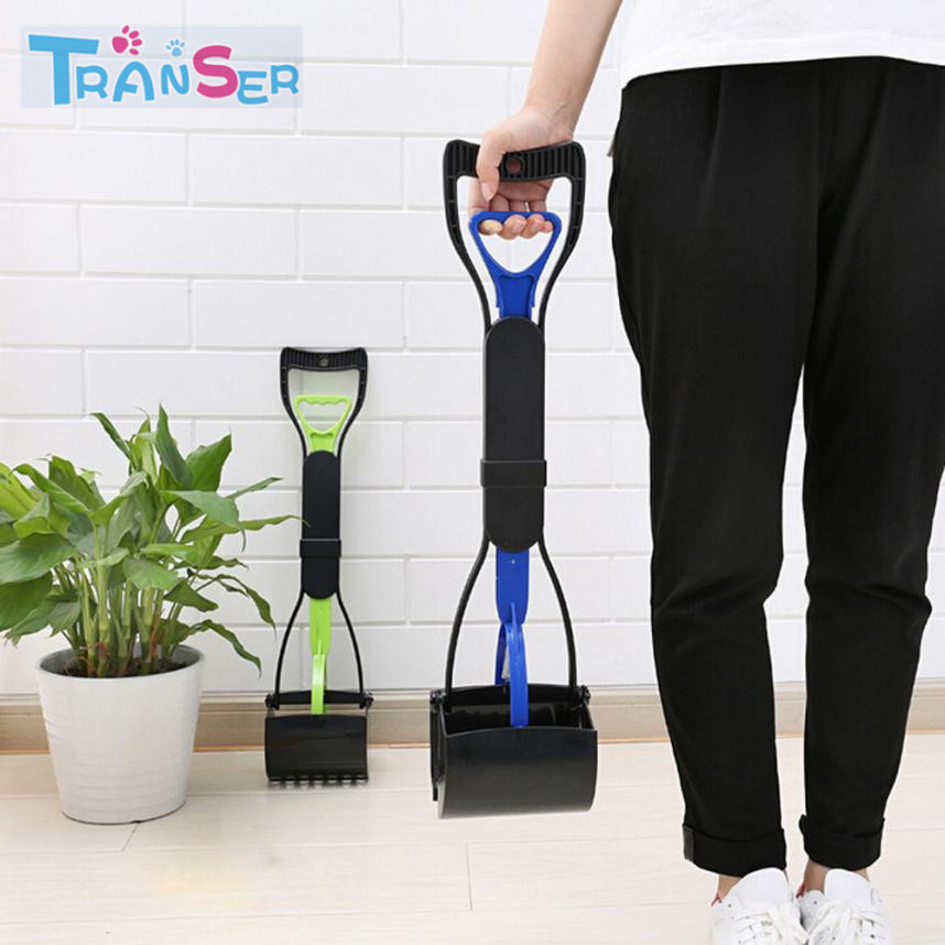 Transer New Fashional Stylish  Long Handle Dog Cat Pet Pooper Scooper Jaw Poop Scoop Clean Pick Up Waste Free Shipping 18feb9
