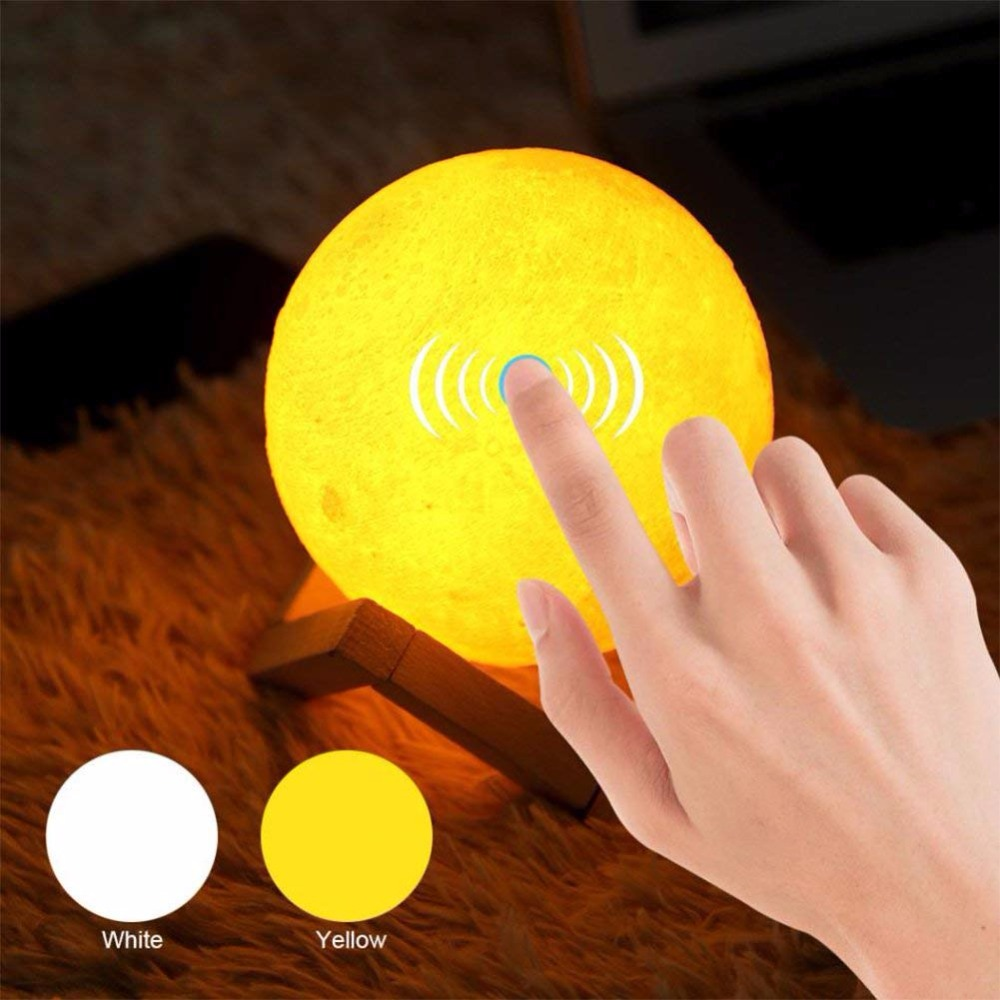 Usb Lamp 3d Printing Moon Lamp Luminaria USB Charging Night Light Led Touch Control Brightness Two Color Change Bedside Lamps magnetic floating levitation 3d print moon lamp led night light 2 color auto change moon light home decor creative birthday gift