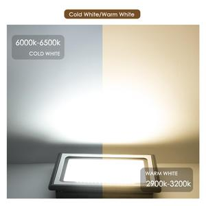 Image 5 - LED מבול אור חיצוני זרקור הארה 10W 20W 30W 50W 100W עמיד למים גן קיר מכונת כביסה מנורת רפלקטור IP65 AC 220V 110V