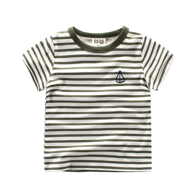 Kurzarm T-Shirts für Jungen Mädchen Grün / Schwarz / Braun - Kinderkleidung - Foto 3