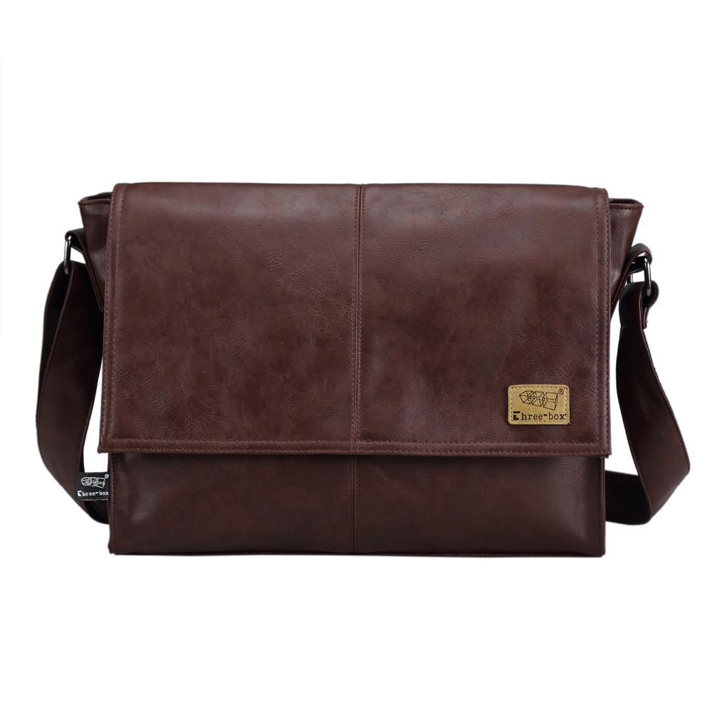 Prix pour Designer sacs à main Hommes de 14 pouce ordinateur portable sac en cuir pu messenger sacs hommes voyage sacs d'école loisirs sacs livraison gratuite