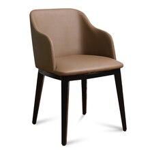 Горячие современный скандинавский кофе стул с кресло металла гостиной кожаный стул. кожа Обеденная мебель металлический стул