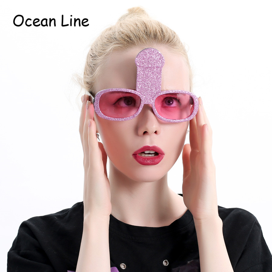Divertido Bachelorette Party Gafas Hen Pink Penis Willy Disfraz Gafas Night Stag Fancy Accesorios Decoración Night Favors