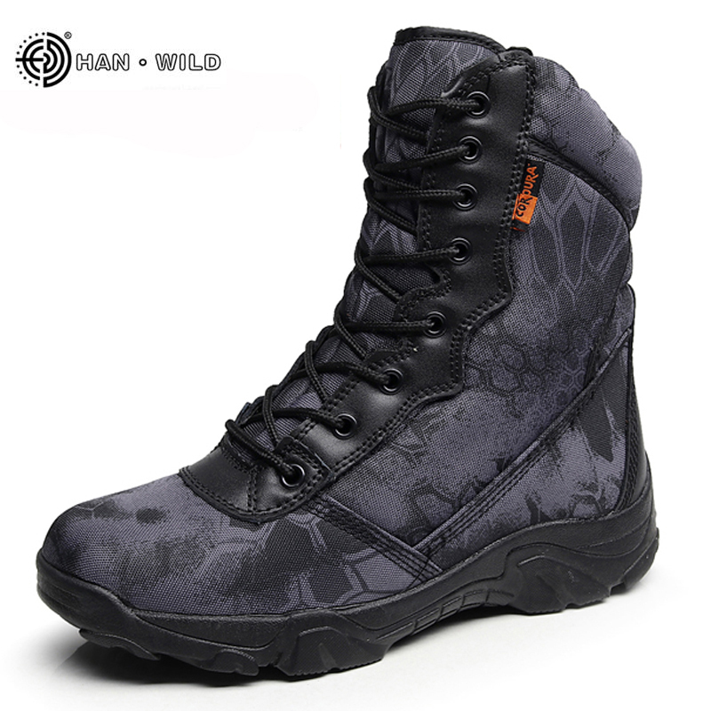 50b5eeced04 Winter Men Military Army Boots Vintage Lace Up Front Leather Mens Tactical  Boots High Top Safety Work Shoes Combat Ankle Boots - dashisland