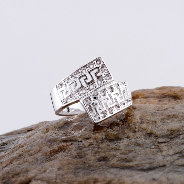 Wholesale silver plated ring 925 Fashion jewelry Silver Ring DKSDXBBQ