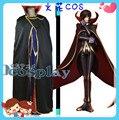 Venta al por mayor Code Geass Lelouch Zero Cosplay Costume cualquier tamaño completo conjunto nuevo en Stock por menor / envío gratis