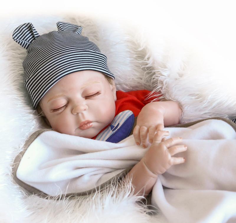 "23/'/' /""Waterproof/"" Handmade Silicone Vinyl Reborn Baby Boy Dolls Lifelike Newborn"
