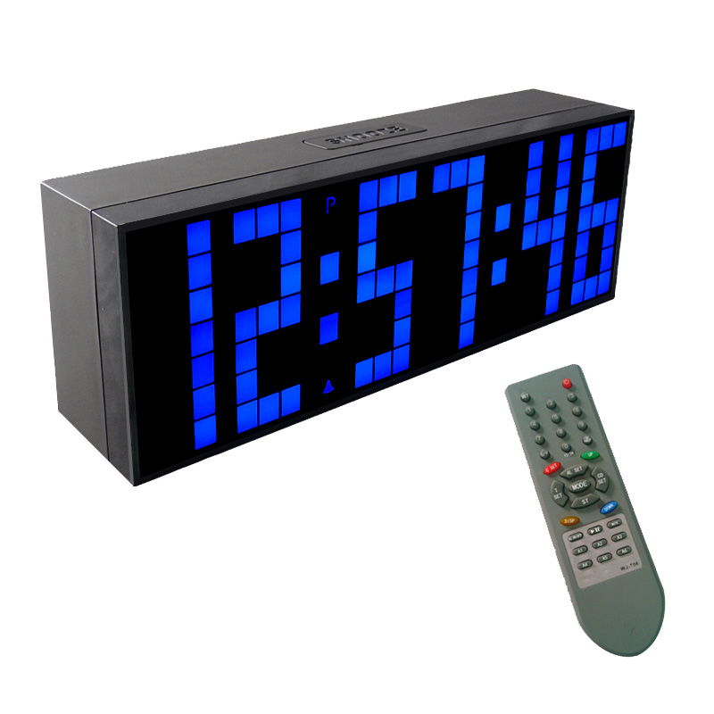 CH KOSDA LED Digital Wall Clock Remote Control Display Countdown And Count Up Time Snooze Temperature In The Room Alarm Clocks