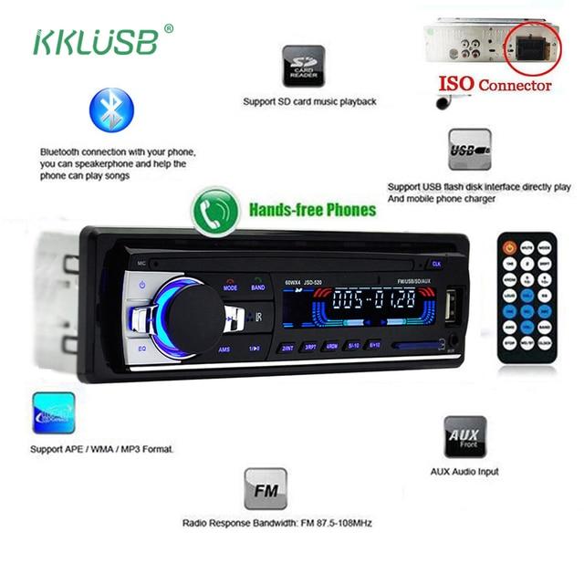 bluetooth v2 0 jsd 520 stereo autoradio car radio 12v in dash 1 dinbluetooth v2 0 jsd 520 stereo autoradio car radio 12v in dash 1 din fm aux input receiver sd usb mp3 mmc wma car audio player
