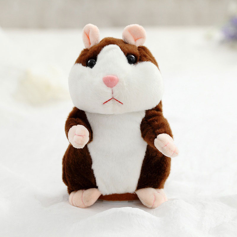 Baby Kids Talking Hamster Cute Plush Toy Lovely Speaking Sound Record Repeat Toy