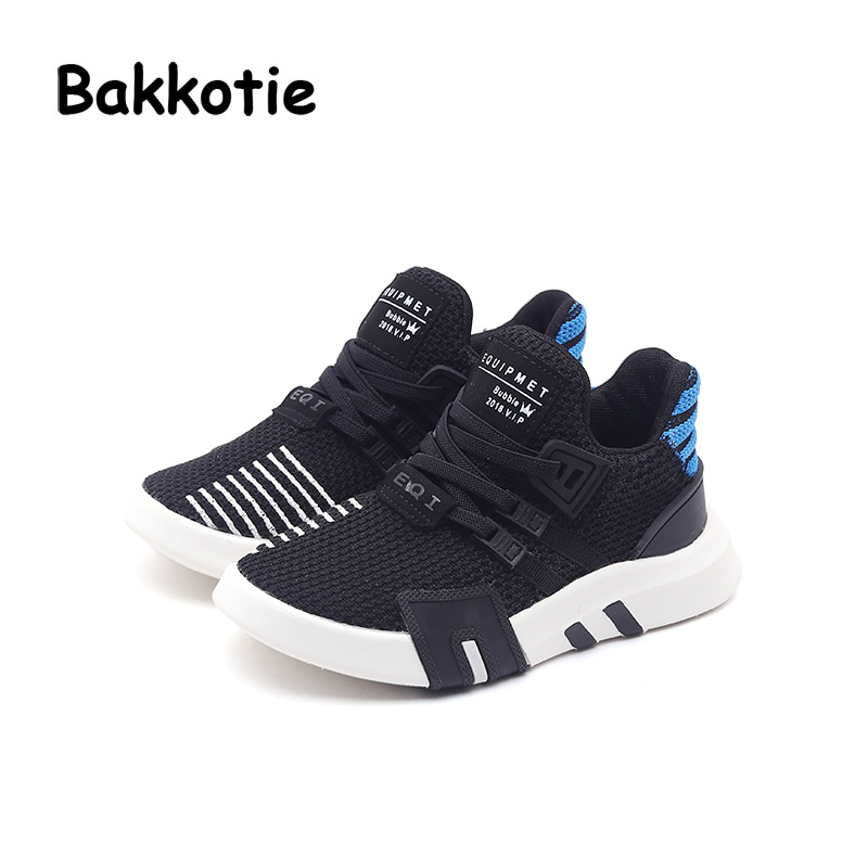 Bakkotie 2018 Spring Fashion Children Casual Sneakers Baby Boy Mesh Shoes Kid Black Sport Shoes Girl Slip-On Brand Shoes Trainer children shoes flat loafers shoes boy girl kids slip on shallow casual shoes non slip sneakers for little kid