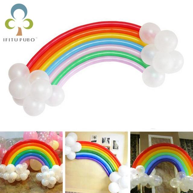 25pcsset DIY rainbow latex balloon wedding Valentines Day birthday