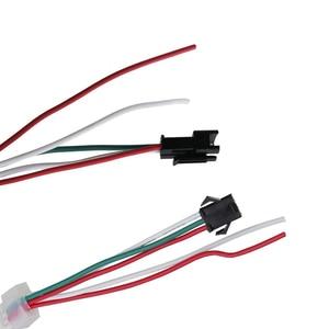 Image 5 - Tira de luces Led inteligentes DC5V 1m/2m/3m/4m/5m WS2812B 30/60/144Leds/m, PCB Blanco/Negro WS2812 IC, resistente al agua, direccionable individualmente