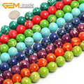 Sea Sediment Jasper Round Smooth Beads For Jewelry Making 14mm 15inches DIY Jewellery FreeShipping Wholesale Gem-inside