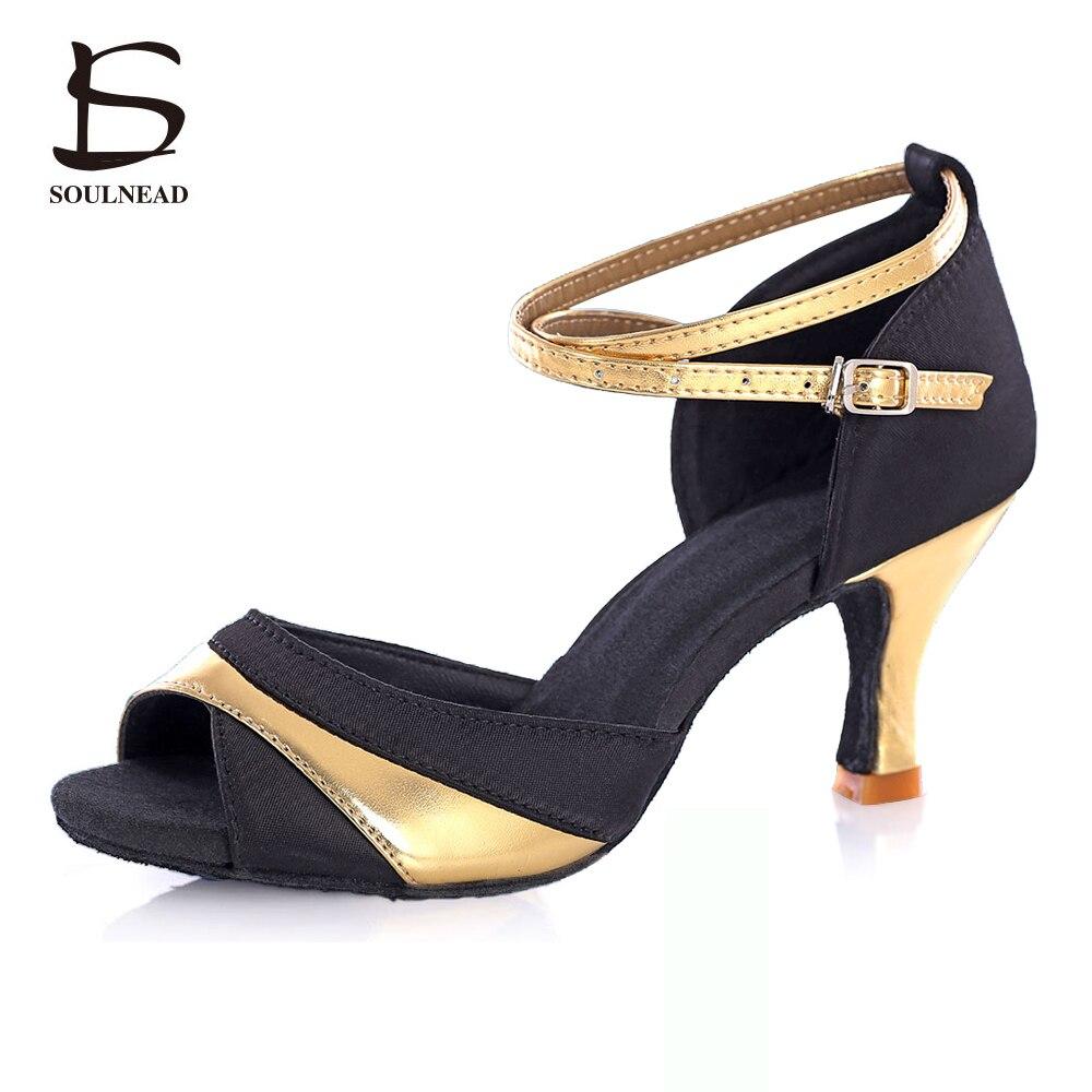 2017 Dance font b Shoes b font Adult Women Satin Material Ballroom Latin Tango font b