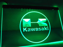 Lg135-kawasaki racing motorcylce barra led sinal de luz de néon decoração para casa artesanato