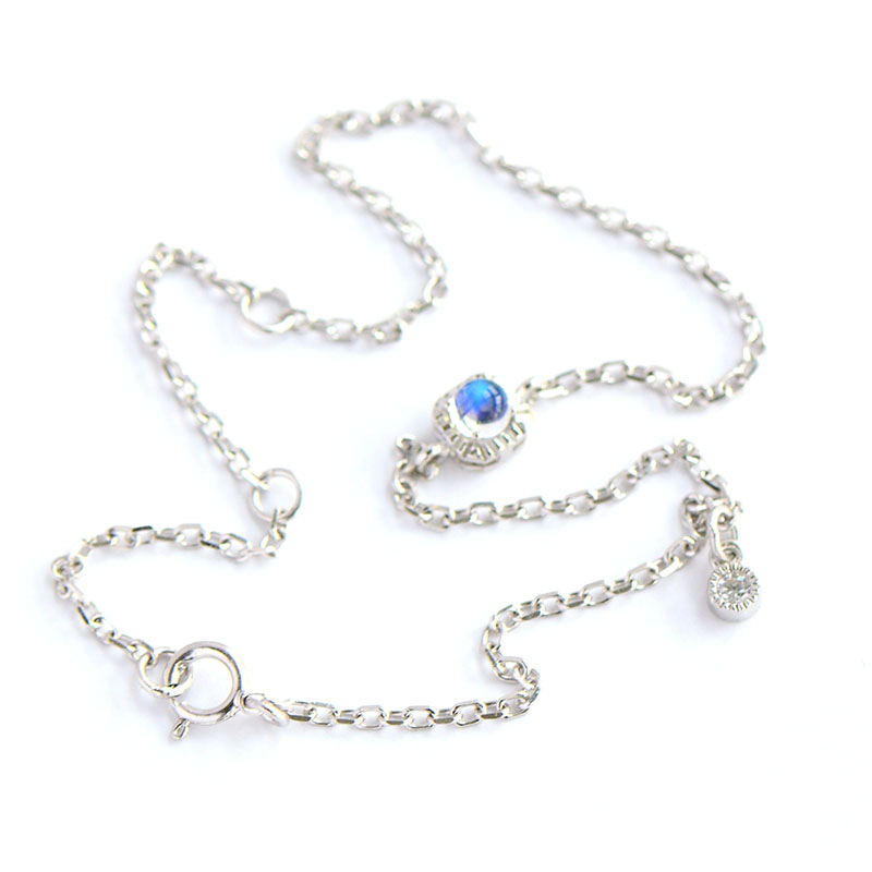 Nepal Bali India Natural Moonstone Blacelets&Bangles, Pure 925 Sterling Silver Bracelet For Women,Fine Jewelry For Wholesale bocai silver makeup india nepal bali silver acts the role of by hand rainbow blue moon stone ring