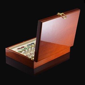 Image 2 - Savoyshi Luxe Manchetknopen Geschenkdoos Hoge Kwaliteit Geschilderd Houten Doos Authentieke Maat 240*180*55Mm Capaciteit Sieraden opbergdoos Set