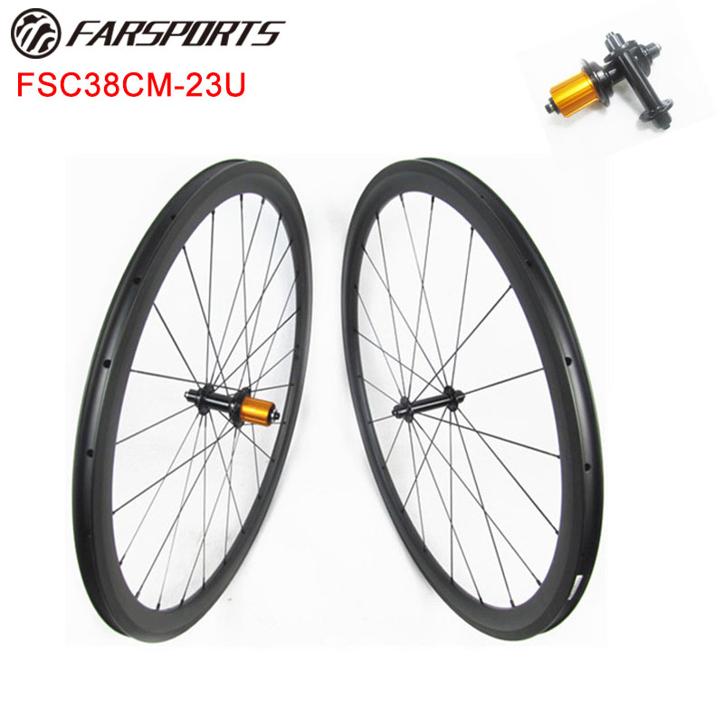 18 months warranty Chinese carbon wheelsets 38mm 23mm clincher rims high TG braking track 4 degree design 700C wheelsets 1360g|carbon wheelset 38mm|700c wheelset|carbon wheelset - title=