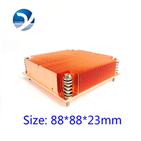 Pure Copper Form Relieved Tooth Screw Function CPU Slots Radiator Professional Heatsink Computer 1U Passive Solution