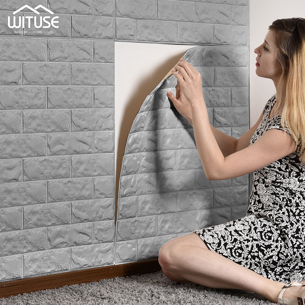 Soft 3D Fashion Wall Panel PE DIY Foam Bricks Wallpaper 60x30cm For Home Living Room title=