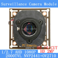 2MP 1920*1080 AHD 1080P 2000TVL Camera Module Circuit Board 1/2.7 CMOS NVP2441H + OV2710 PCB Board+ HD IR-CUT dual-filter switch