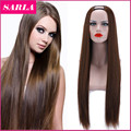 New HOT!!! Xmas U Part  Synthetic Hair Wigs Cosplay Wig Natural Long Straight Wig High Temperature Silk  Lace Wigs for  Women