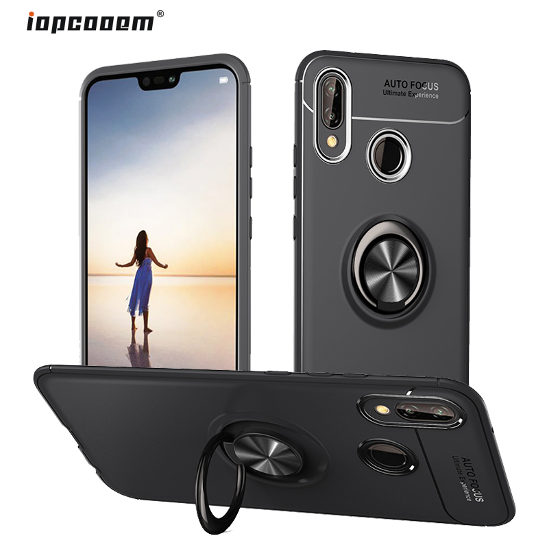 Coque for Huawei Honor 10 Lite Case Honor10 Caser Ring Holder Soft Silicone Shockproof Back Cover For Huawei Honor 10 Case in Half wrapped Cases from Cellphones Telecommunications