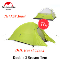 Naturehike 2017 New Arrived 2 Person 3 Season Tent 20D Silicone Fabric Double Layer Camping Tent
