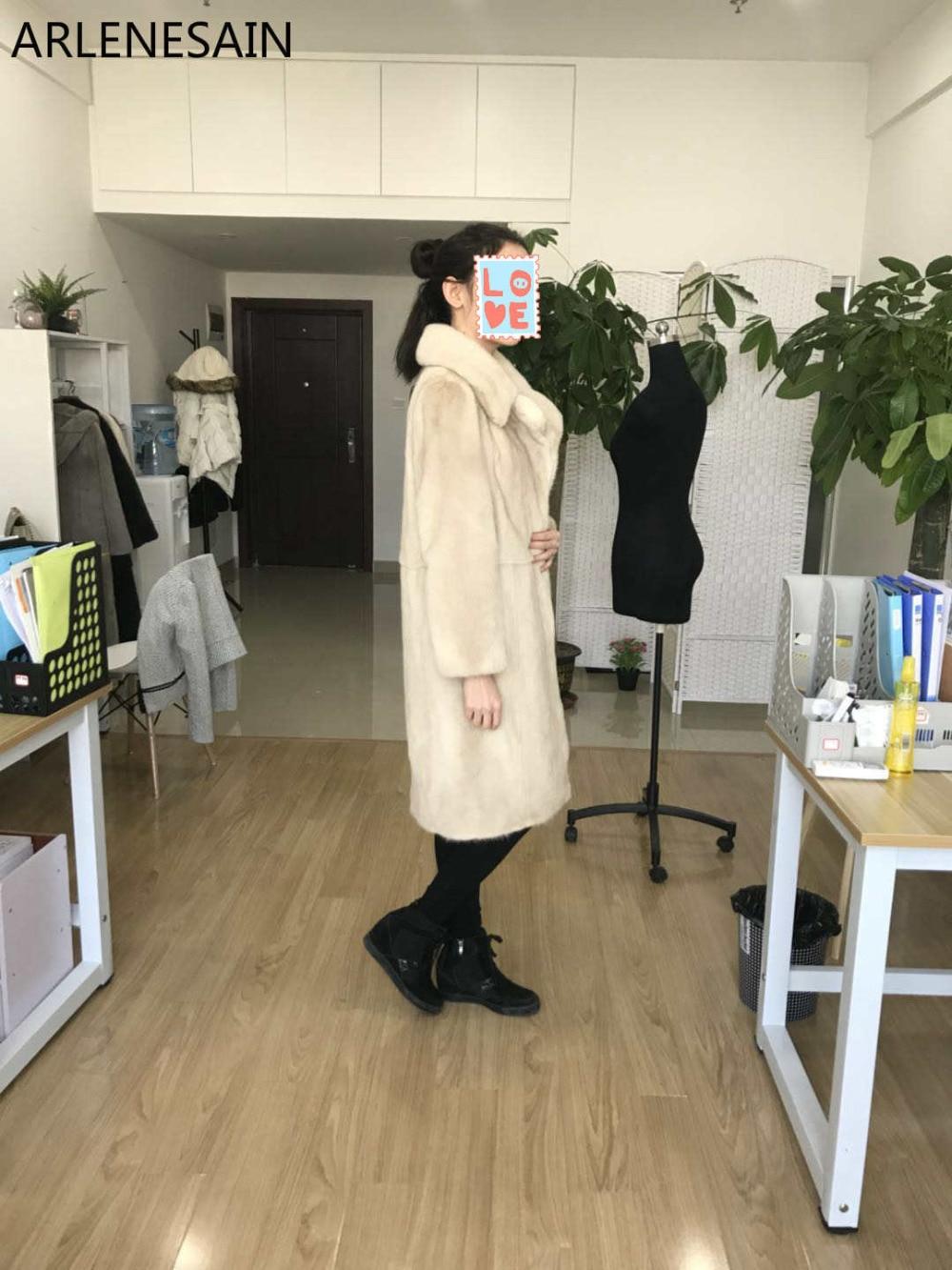 Vison Femmes Mode Beige 2018 De Arlenesain Manteau Personnalisé Couleur Fourrure Nouvelle wq6ZWagH