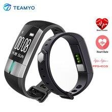 Teamyo G20 мониторинг ЭКГ Smart Band Приборы для измерения артериального давления Часы Heart Rate Смарт-фитнес трекер Браслет Smart Watch для IOS Android