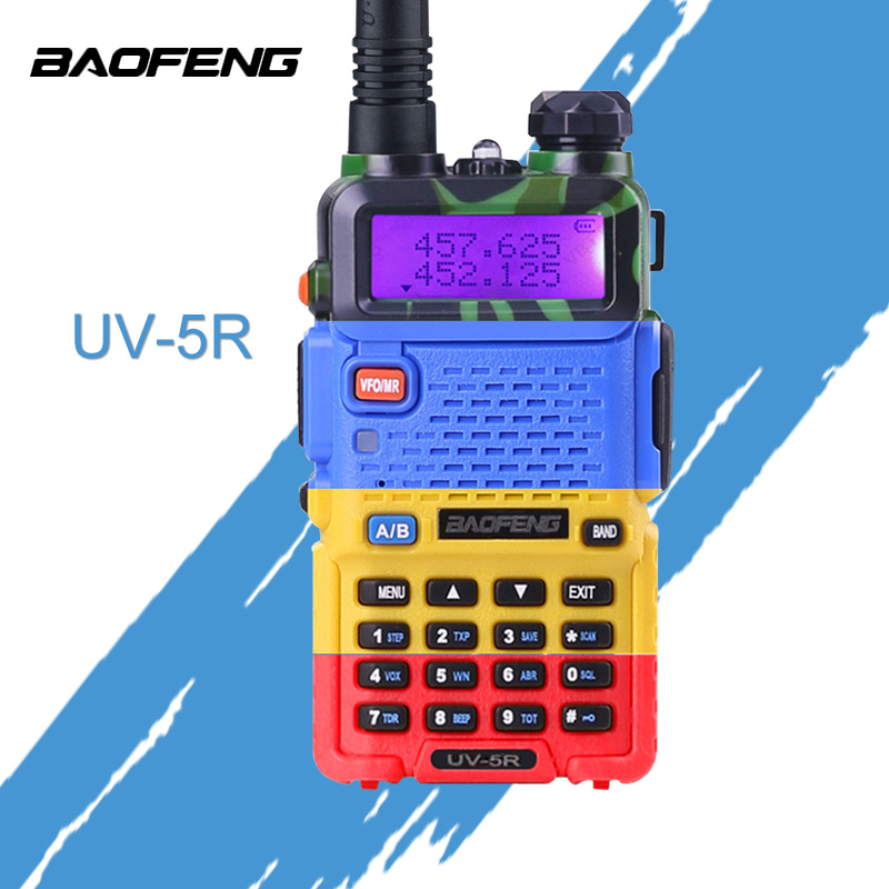 BaoFeng UV-5R Walkie Talkie Professionelle CB Radio Baofeng UV5R Transceiver 128CH 5 Watt VHF & UHF Handheld UV 5R Für jagd Radio