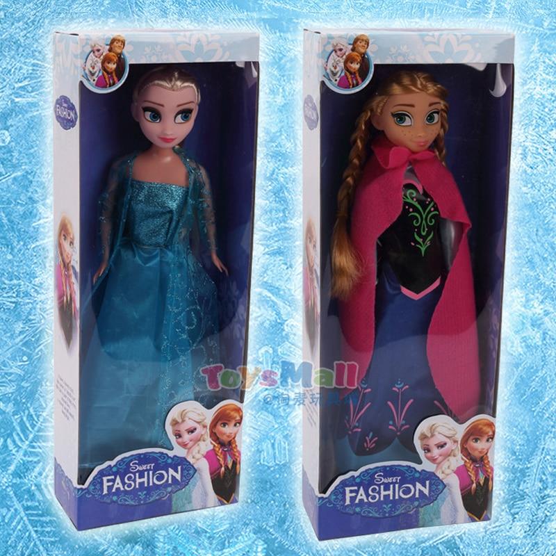 Disney Frozen princess doll Fairy Fantasy girl DIY toy handmade dress up Action Aisha Ana Lovely Toy Model For kid birthday gift стоимость