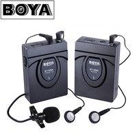 Boya by-wm5/wm6/wm8 카메라 무선 발리에 마이크 레코더 시스템 canon 6d 600d 5d25d3 nikon d800 sony dv 캠코