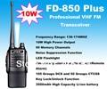 10 W walkie talkie de Alta Potência FD-850 Além DISSO 10 Watt VHF 136-174 MHz Transceiver Professional FM