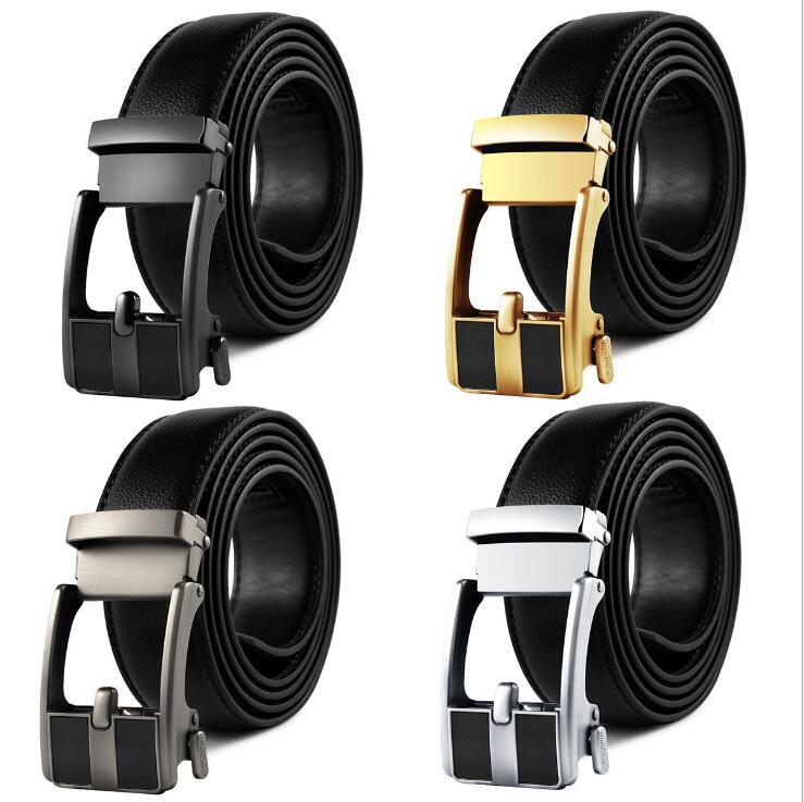 New Brand Designer Mens Belts Luxury Fashion Real Leather Belts For Men Metal Buckle Men Top Quality Automatic Buckle BlackBelts