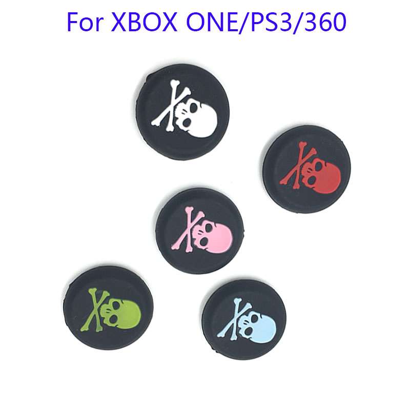 10PCS Skull Head Colorful Silicone Analog Thumbstick Caps for Sony PS4 Joystick Caps for Dualshock 4 Controller Game Accessorie