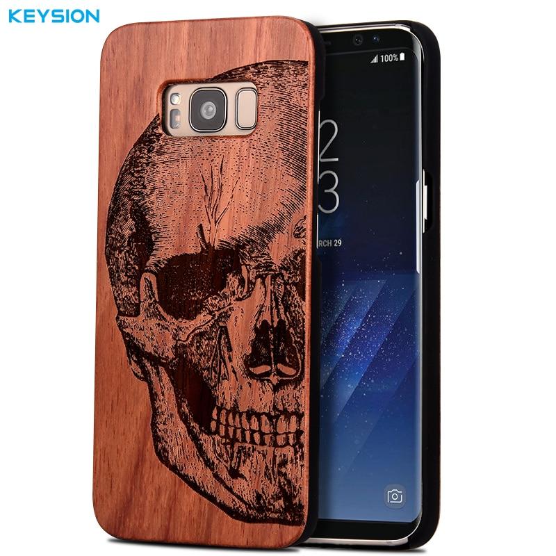 bilder für Keysion case für samsung galaxy s8 s8 plus original luxus relief massivholz und harte PC Phone cases back cover für G950 G955
