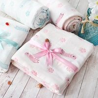 Muslin Newborns Swaddle Toddler Bath Towel Bamboo Cotton Baby Blanket Summer Baby Sleeping Quilt 103*110cm Newborns Wrap Cloth