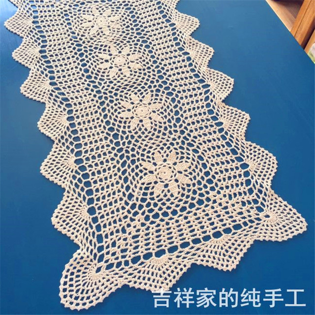 Free Shipping Cotton Crochet Tablecloth Table Cover Towel For Coffee
