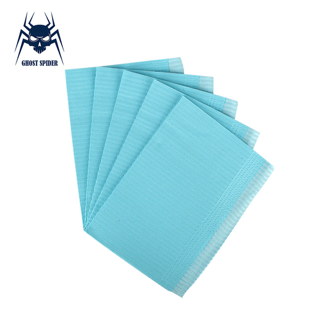 GHOST SPIDER 125pcs Disposable Tattoo Clean Pad Waterproof Medical Paper Tablecloths Mat Double Layer Sheets Tattoo Accessories