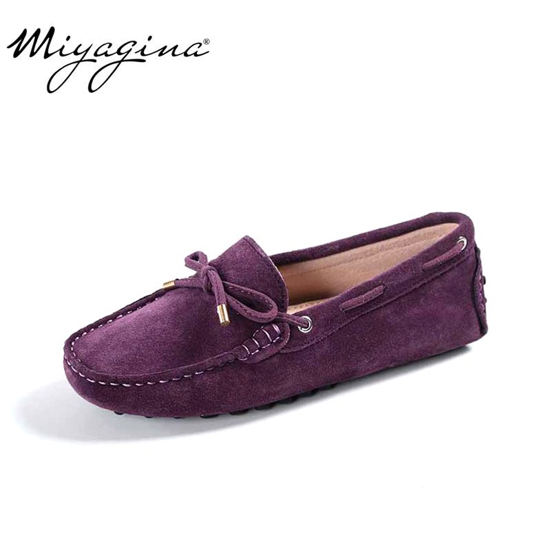 100% Genuine leather Women flats New Brand Handmade Women Casual leather shoes Leather Moccasin Fashion Women Driving Shoes
