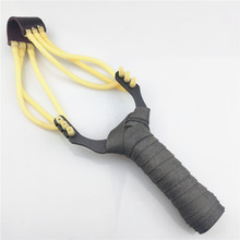 Powerful slingshot hunting high quality steel and rubber band outdoor sling shooting professional