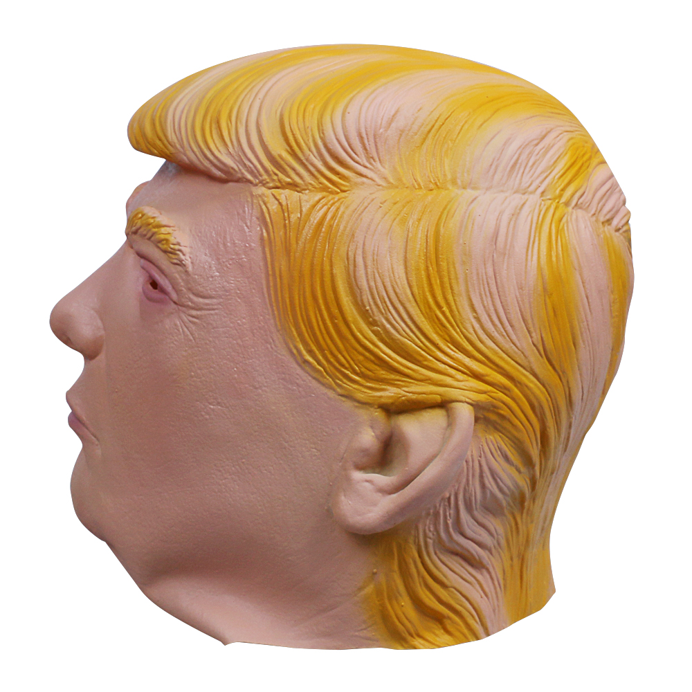 1PC Donald Trump Mask Billionaire Presidential Costume Latex Cospaly Mask For Halloween Party Decorations Ornament (1)