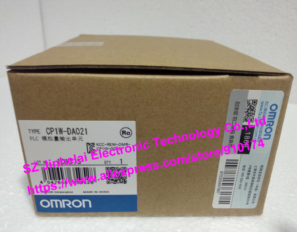 New and original  CP1W-DA021  OMRON PLC Analog output unit new and original e3x da11 s omron optical fiber amplifier photoelectric switch 12 24vdc