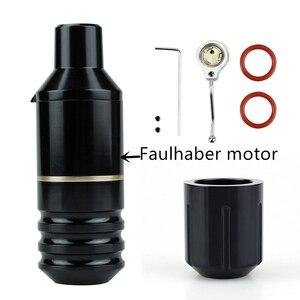 Image 5 - New original Tattoo Pen Short pen Machine German Faulhaber Motor Tattoo Machine with heads DC interface Free Shipping