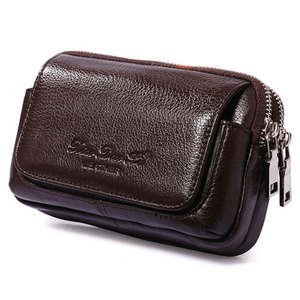 Высокое качество, Мужская поясная сумка из натуральной кожи, кошелек для монет и сигарет, Карманный чехол, поясная сумка, сотовый/мобильный ...