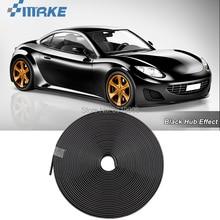 smRKE 8M Car Wheel Hub Rim Edge Protector Ring Tire Strip Guard Rubber Stickers On Cars Black Styling