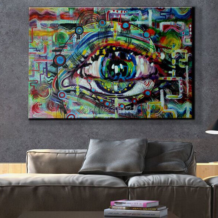 unique modern abstract art painting of eye wall art canvas On weird painting ideas